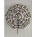 Мужской зонт полуавтомат черный, 9 спиц