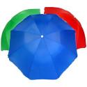 Пляжный Зонт 120P Однотонный С Напылением 2.50м,Пластиковые Спицы