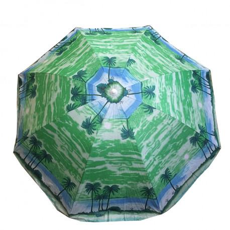 Пляжный Зонт 85P 1.80м,Пластиковые Спицы, С Наклоном И Напылением (ЦЕНА ЗА ЯЩИК)