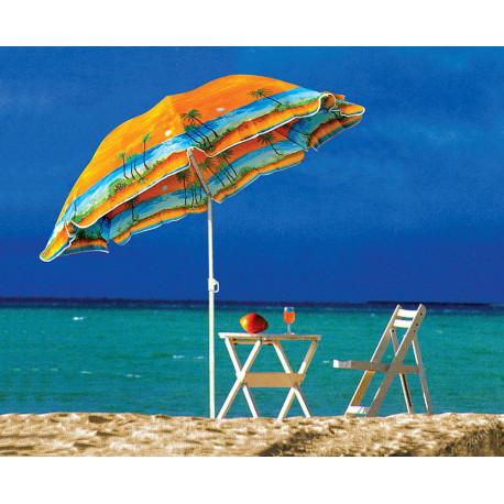Пляжный Зонт 85T 1.80м, С Наклоном И Напылением (ЦЕНА ЗА ЯЩИК)